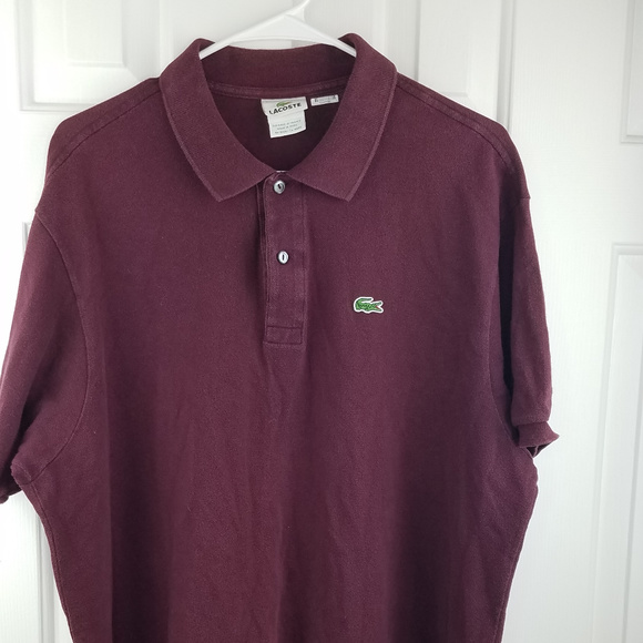 2a14d33f5ea Lacoste Other - Burgundy Lacoste Polo Size 7 (XXL US)